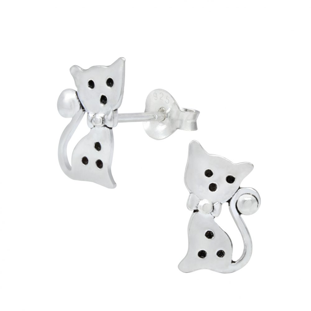 Wholesale Silver Cat Ear Studs