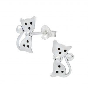 Wholesale Silver Cat Ear Studs