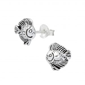 Wholesale Silver Fish Ear Studs