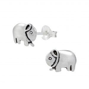 Wholesale Silver Elephant Ear Studs