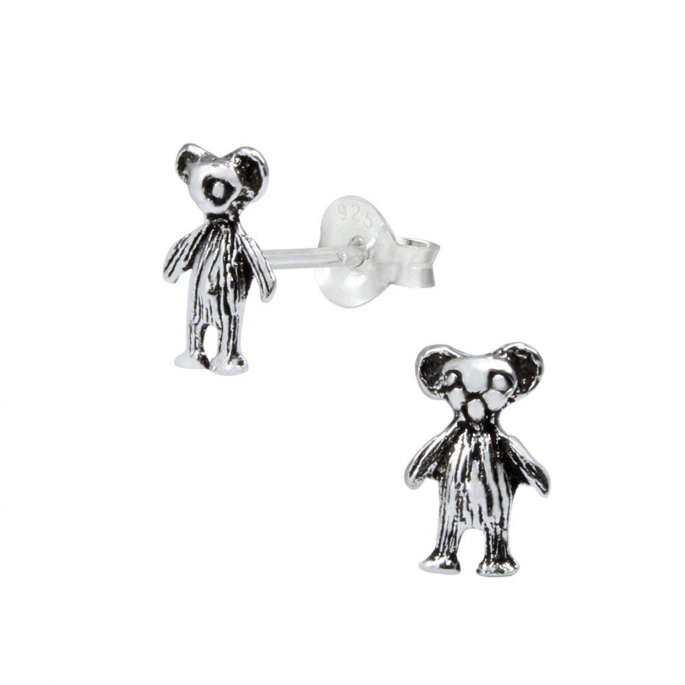 Wholesale Silver Bear Ear Studs