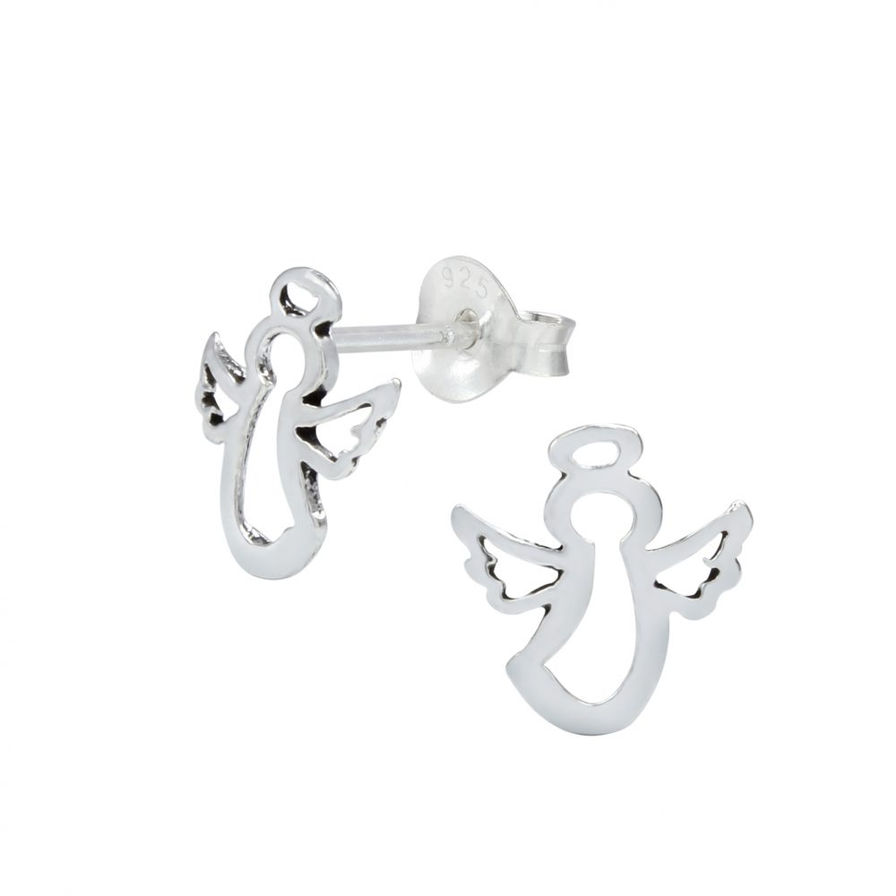 Wholesale Silver Angel Ear Studs