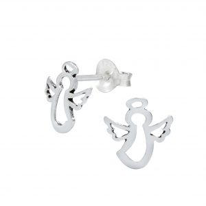 Wholesale Silver Angel Ear Studs