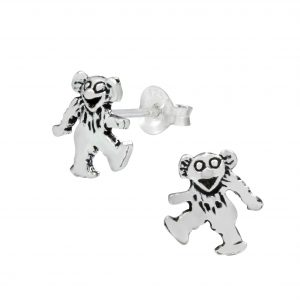 Wholesale Silver Bear Ear Studs