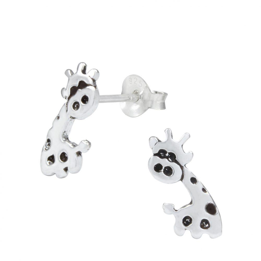 Wholesale Silver Giraffe Ear Studs