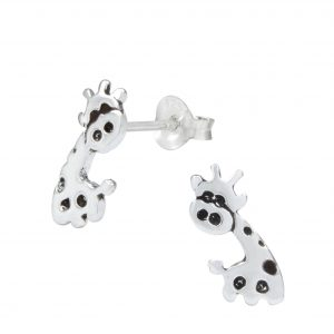 Wholesale Silver Giraffe Ear Studs