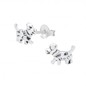 Wholesale Silver Dog Ear Studs