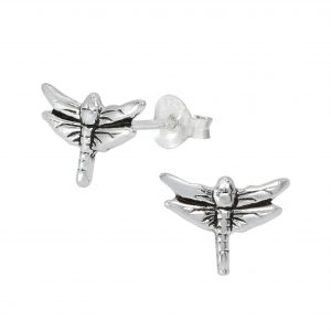 Wholesale Silver Dragonfly Ear Studs