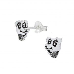 Wholesale Silver Dog Ear Studs
