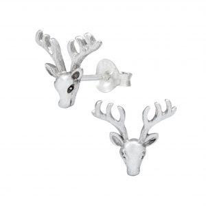 Wholesale Silver Deer Ear Studs