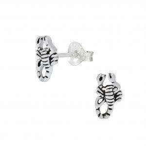 Wholesale Silver Scorpion Ear Studs