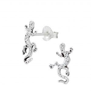 Wholesale Silver Lizard Ear Studs