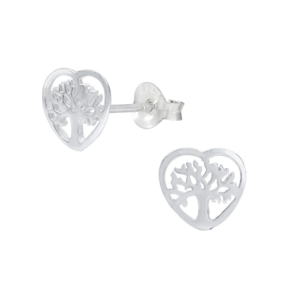 2e13debf8 Wholesale Silver Tree of Life Ear Studs