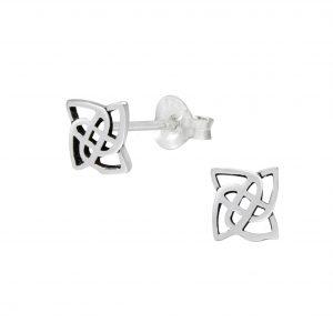 Wholesale Silver Celtic Ear Studs