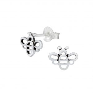 Wholesale Silver Bee Ear Studs