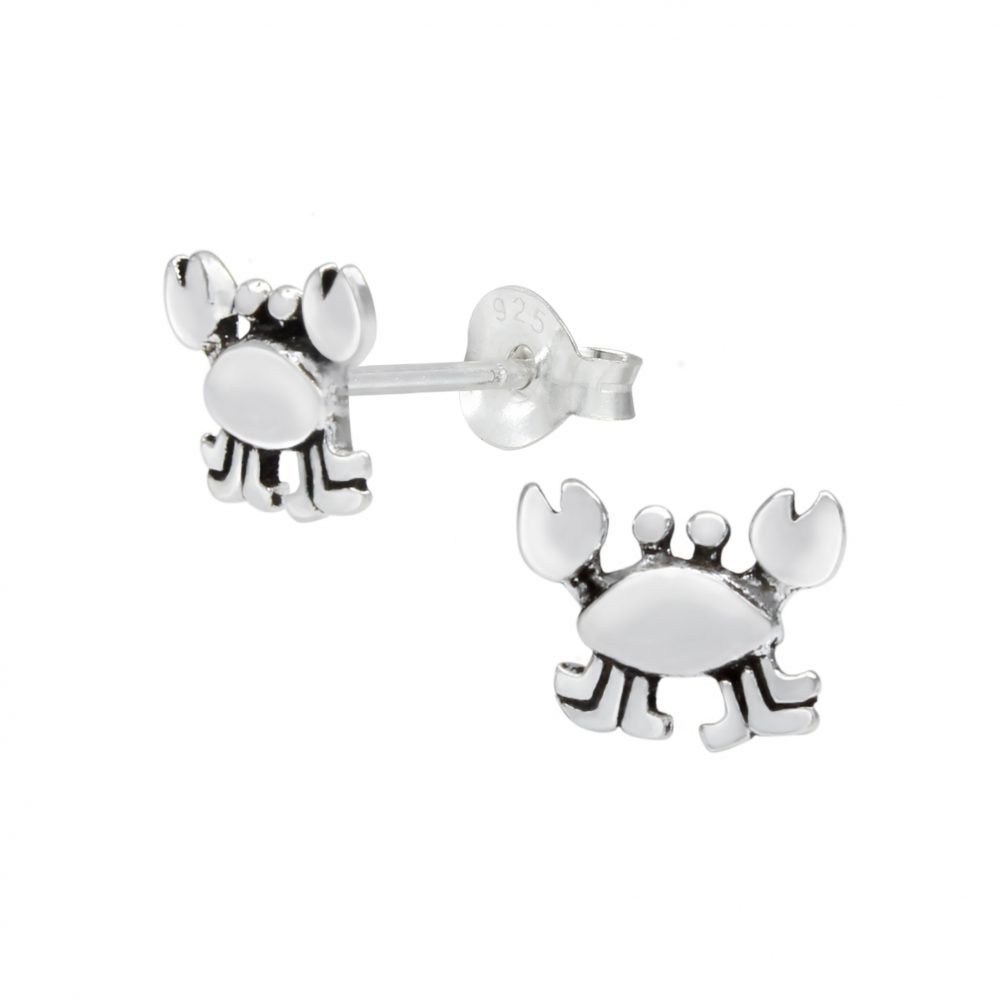 Wholesale Silver Crab Stud Earrings