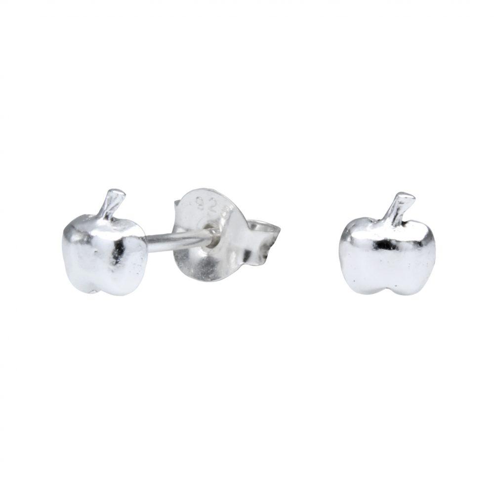 Wholesale Silver Apple Ear Studs