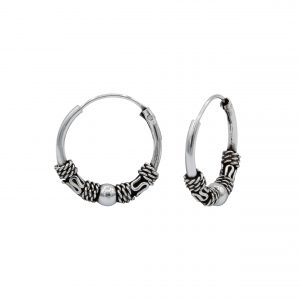 Wholesale 14mm Silver Bali Hoops