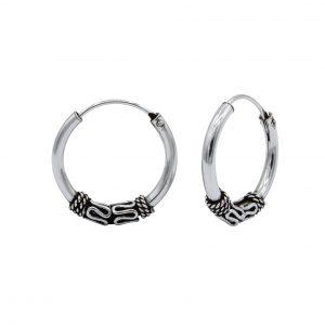 Wholesale 18mm Silver Bali Hoops