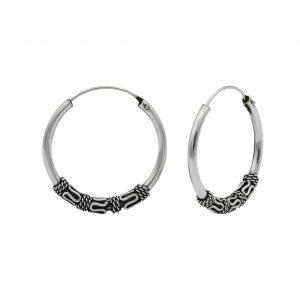 Wholesale 25mm Silver Bali Hoops