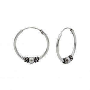 Wholesale 16mm Silver Bali Hoops