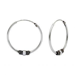 Wholesale 20mm Silver Bali Hoops