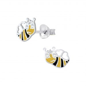 Wholesale Silver Bee Stud Earrings