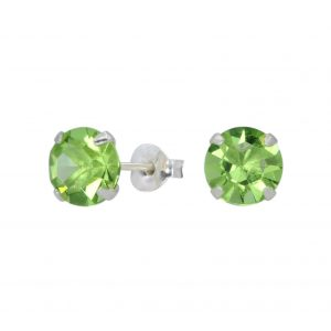 Wholesale 7mm Round Crystal Silver Stud Earrings