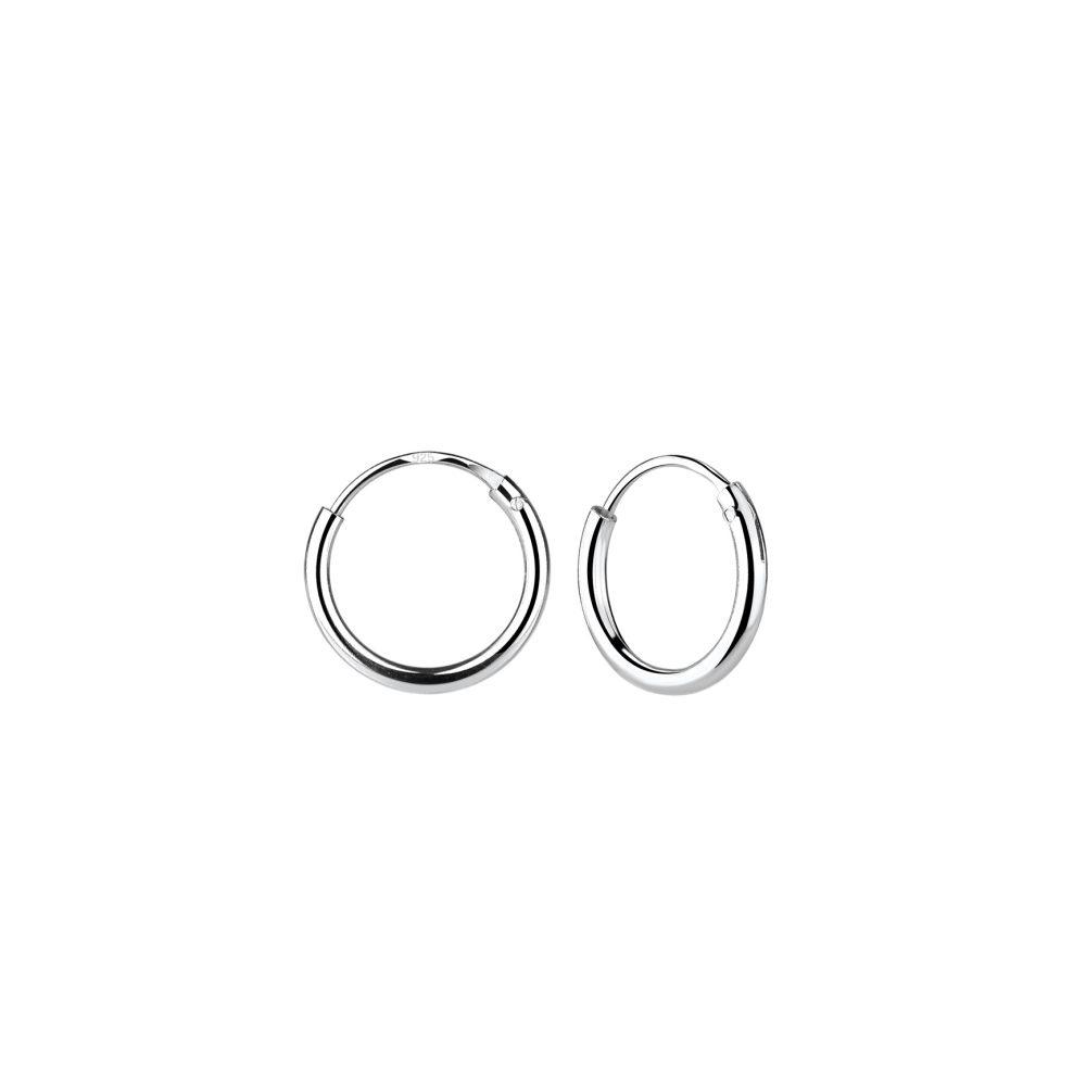 Wholesale 10mm Silver Hoop Earrings