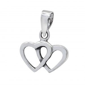 Wholesale Silver Double Heart Pendant