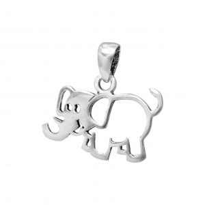 Wholesale Silver Elephant Pendant