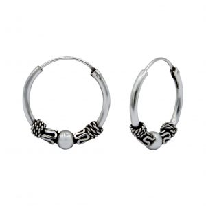 Wholesale 14mm Silver Bali Hoops