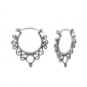 Wholesale 16mm Silver Bali Hoops