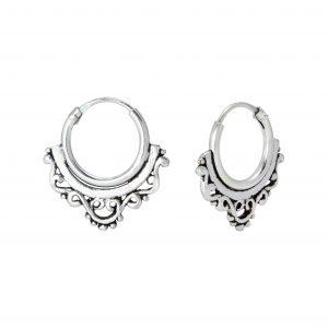 Wholesale 10mm Silver Bali Hoops