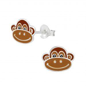 Wholesale Silver Monkey Stud Earrings