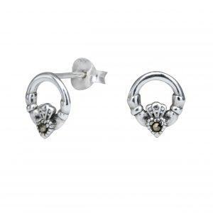 Wholesale Silver Claddagh Stud Earrings