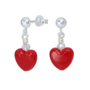Wholesale Silver Stud Earrings with Heart