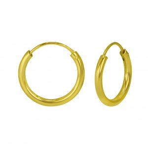 Wholesale 16mm Silver Thick Hoops