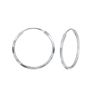Wholesale 18mm Silver Hammered Hoops