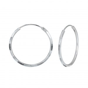 Wholesale 25mm Silver Hammered Hoops