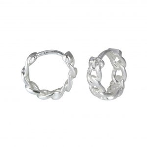 Wholesale Silver Intertwining Hoops