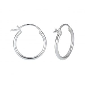 Wholesale 16mm Silver French Lock Hoop Earrings