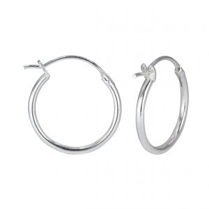 Wholesale 18mm Silver French Lock Hoop Earrings