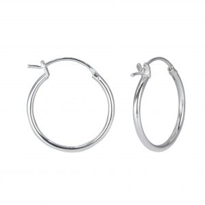 Wholesale 20mm Silver French Lock Hoop Earrings