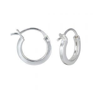 Wholesale 12mm Silver French Lock Square Hoops