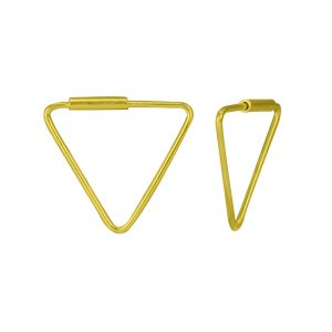 Wholesale 16mm Silver Triangle Hoops