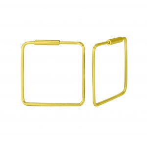 Wholesale 16mm  Silver Square Hoop Earrings