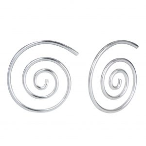 Wholesale Silver Swirl Hoop Earrings