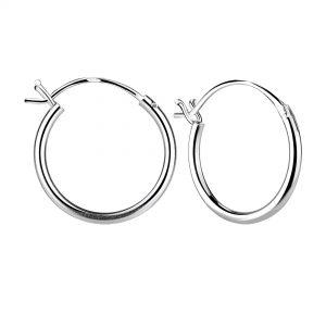 Wholesale 16mm Silver French Lock Hoop Earrings
