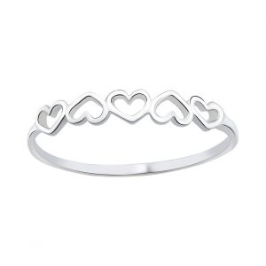 Wholesale Silver Hearts Ring